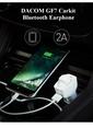 Dacom Araç Kiti Bluetooth Kulaklık ve Şarj Aleti Beyaz